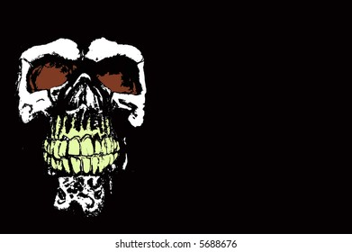 Creepy skull with room for text