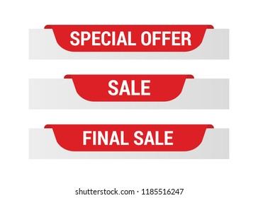 Cretive sale banner with shadow on a white background. Orange sticker or discount label. Web special offer tag. promotion poster, badge template,