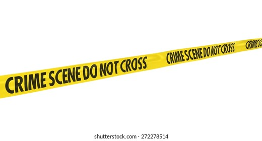 Crime Scene Do Not Cross Tape at Angle