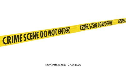 Crime Scene Do Not Enter Tape at Angle