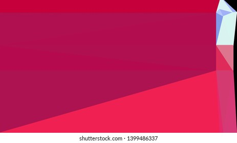 crimson, lavender blue and black color background with triangles. triangles style of different size and shape. simple geometric background for poster, cards, wallpaper or texture.
