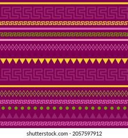 Crimson pattern with Greek pattern meander elements