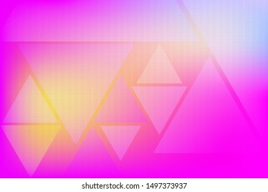 Crimson and pink texture with colored shapes. Blurred decorative design in simple style with triangles. Template for your beautiful backgrounds. Futuristic illustration of geometric patterns.