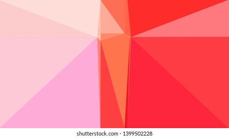 crimson, pink and tomato color background with triangles. triangles style of different size and shape. simple geometric background for poster, cards, wallpaper or texture.