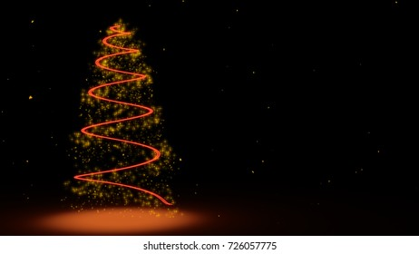 cristmas tree on black background