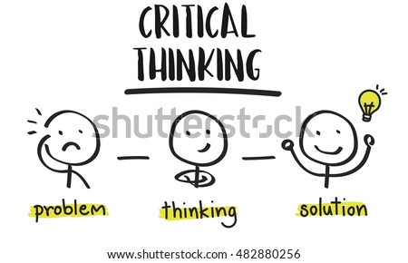 critical thinking creative brainstorm people conceptのイラスト素材