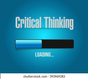 Critical Thinking loading bar sign illustration design graphic