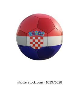 croatia soccer ball isolated on white