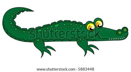 crocodile clipart stock illustration 5883448 shutterstock rh shutterstock com crocodile clip art free crocodile clipart png