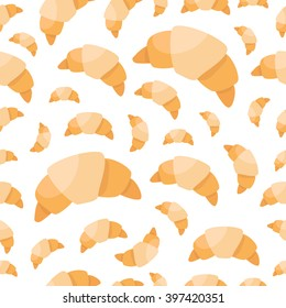 croissant seamless pattern. clip-art illustration
