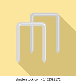 Croquet wicket icon. Flat illustration of croquet wicket icon for web design