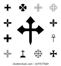 Cross fetcher icon. Detailed set of cross. Premium graphic design. One of the collection icons for websites, web design, mobile app on white background