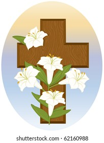 Cross and Lilies - Raster Version