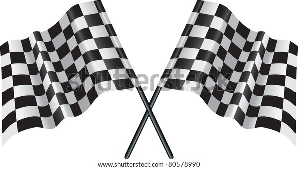 crossed flags  representing sport or finishing lines