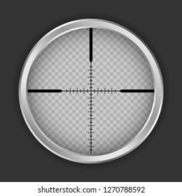 Crosshair shot icon. Realistic illustration of crosshair shot icon for web design