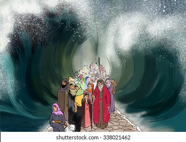 The crossing of the Red Sea - Israel