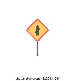 Crossroad junction colored icon. Element of road signs and junctions icon for mobile concept and web apps. Colored Crossroad junction can be used for web and mobile