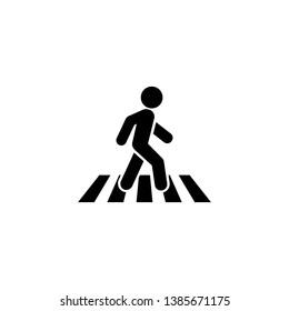 Crosswalk icon symbol logo template. illustration