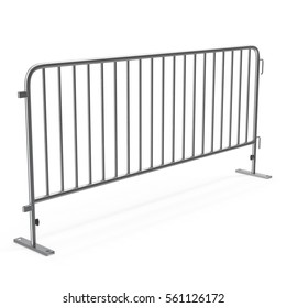Crowd Barrier isolated on white. 3D illustration
