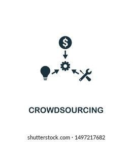 Crowdsourcing icon. Creative element design from content icons collection. Pixel perfect Crowdsourcing icon for web design, apps, software, print usage.