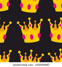 Crown seamless background or tile pattern