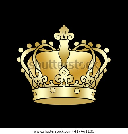 Crown Symbol Golden Crown King Isolated Stock Illustration 417461185