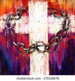 crown of thorns digital painting/crown of thorns