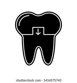 Crowned tooth icon. Element of Dantist for mobile concept and web apps icon. Glyph, flat icon for website design and development, app development