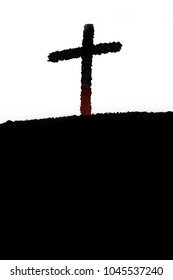 Crucifixion Of Jesus Christ cross.Good friday and easter concept.