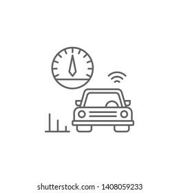 Cruise control, car icon. Element of auto service icon. Thin line icon for website design and development, app development. Premium icon
