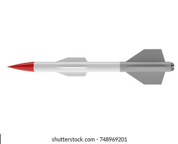 Cruise missile isolated on white background. 3d illustration
