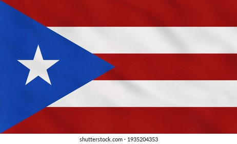 Crumpled Fabric Flag of Puerto Rico Intro. Puerto Rico Flag. Puerto Rico Banner. Caribbean Flags. Celebration. Flag Day. Patriots. Realistic Animation 4K. Surface Texture. Background Fabric.