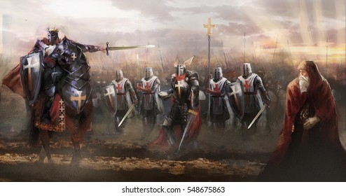 crusaders marching to concord enemy