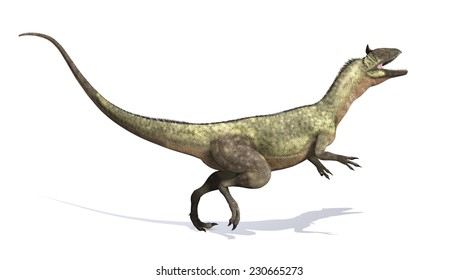 The Cryolophosaurus was a dinosaur that lived during the Early Jurassic period - 3d render..