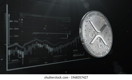 Crypto coin RIpple XRP 3d rendering