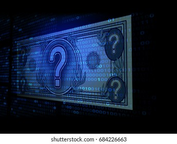 Cryptocurrency as bitcoin or ethereum digital internet currency economic concept as online electronic money transaction from a banking database market in a 3D illustration style.