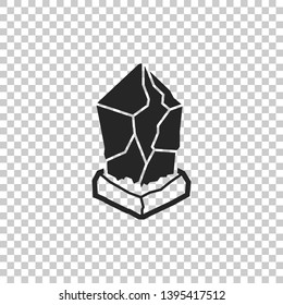 Cryptocurrency coin Lisk LSK icon isolated on transparent background. Physical bit coin. Digital currency. Altcoin symbol. Blockchain based secure crypto currency. Flat design