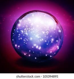 Crystal Ball with lights
