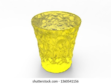 crystal coasters 3D isolate background