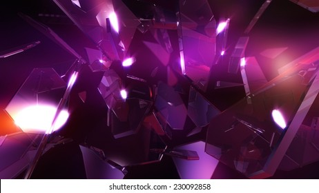 Crystal glass abstract background