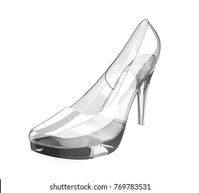 Crystal High Heel Isolated. 3D rendering