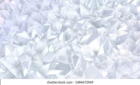 Crystal triangle background. 3d illustration, 3d rendering.