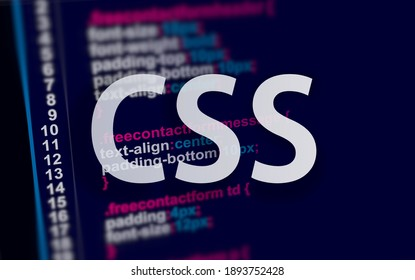css code on dark background in code editor and word CSS