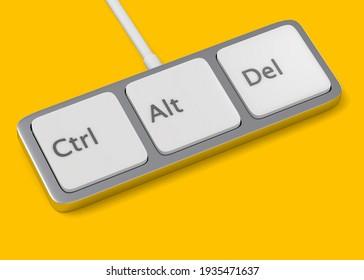 Ctrl Alt Del - Minimal Keyboard concept - 3D