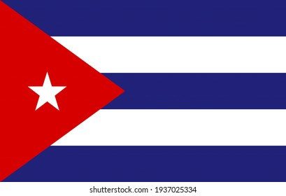 Cuba flag graphic. Rectangle Cuban flag illustration. Cuba country flag is a symbol of freedom, patriotism and independence.
