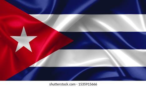 cuban flag country symbol illustration