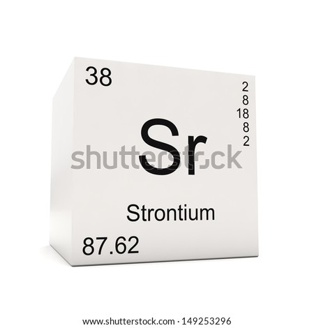 Cube Strontium Element Periodic Table Isolated Stock Illustration