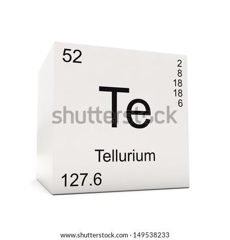 Cube Tellurium Element Periodic Table Isolated Stock Illustration