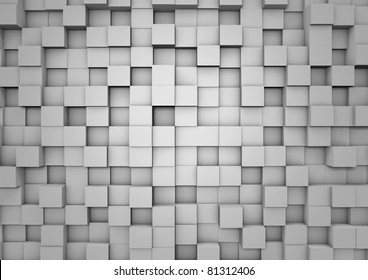 Cube wall background