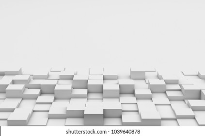 Cubes background with copy space, 3d render